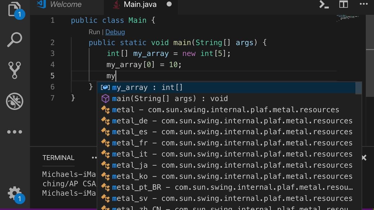 Java - 5 1 3 - Create & Fill An Array
