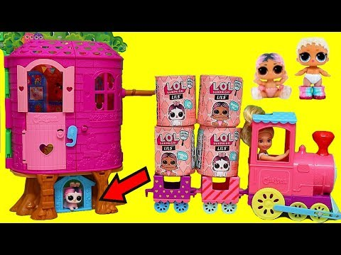 LOL Surprise Lils Travel in Choo Choo Train  Toys and Dolls Pretend Play for Kids  SWTAD