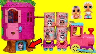 LOL Surprise Lils Travel in Choo Choo Train ! Toys and Dolls Pretend Play for Kids   SWTAD