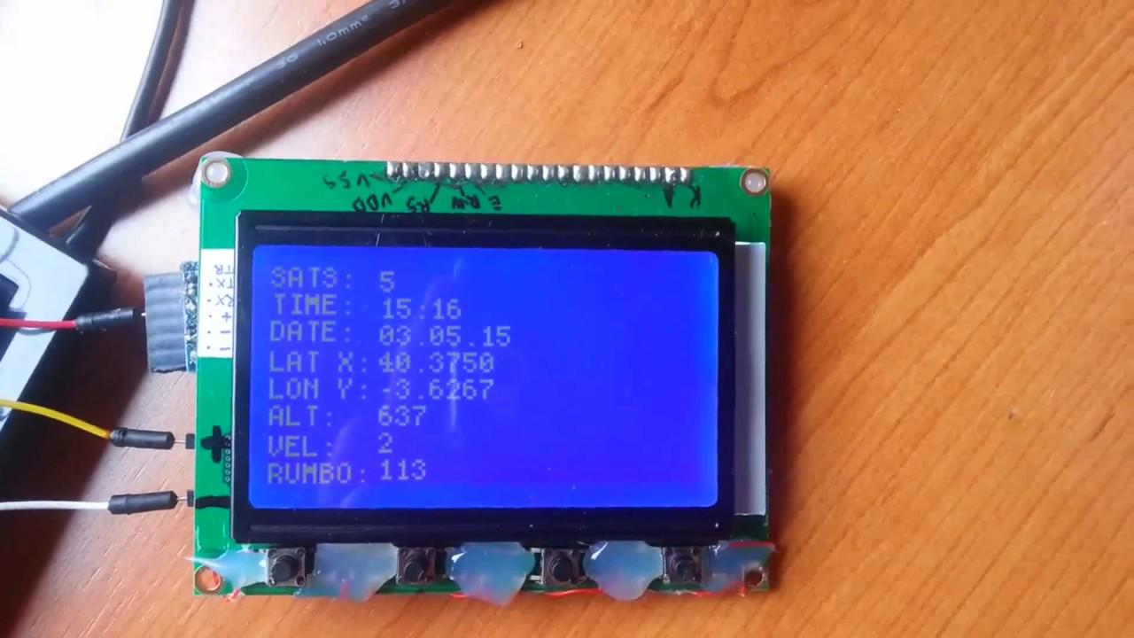 Tiny gps arduino uno pro mini glcd youtube