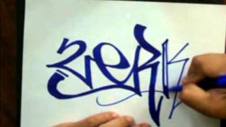 Download Video How to tag graffiti name (ZERK) - requested - how to draw graffiti name MP3 3GP MP4