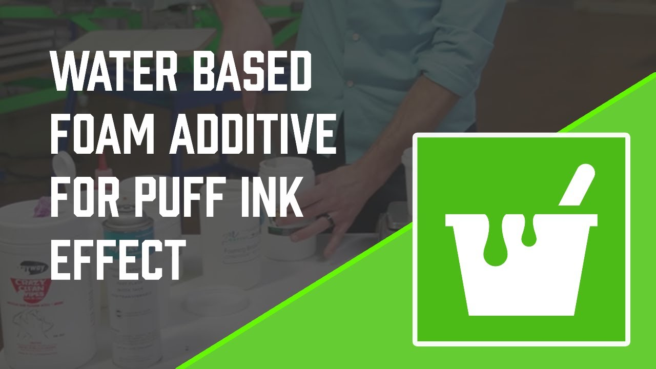 Matsui Water Based Foam Additive For Puff Ink Effect Youtube