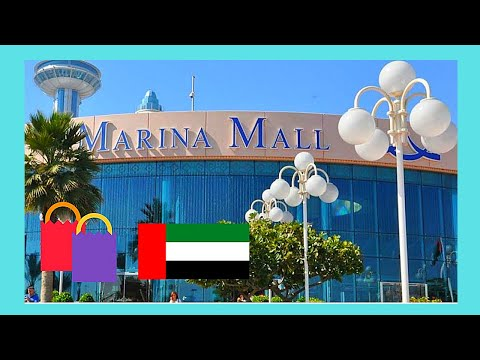 ABU DHABI: The beautiful MARINA SHOPPING MALL, United Arab Emirates (UAE)