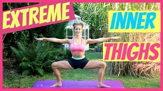 EXTREME INNER THIGHS Workout + Stretch // Quick and Effective