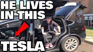 Ex Tesla Army Veteran Now Lives in his Model X