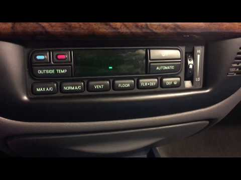 Mercury Grand Marquis EATC (auto Climate Control) Self Test