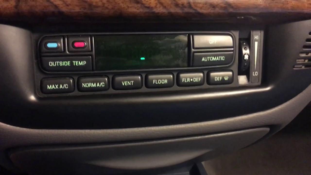 mercury grand marquis eatc auto climate control self test [ 1280 x 720 Pixel ]