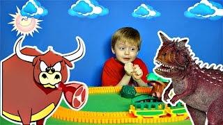 Детям про Динозавров Хищники КАРНОТАВР Поезд Динозавров Детское Видео про Динозавров Сказка Lion boy