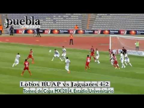 Lobos BUAP vs Jaguares 4-2, Llave 1, Copa MX 2014