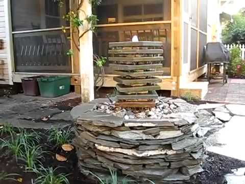 how to make a garden fountain youtube