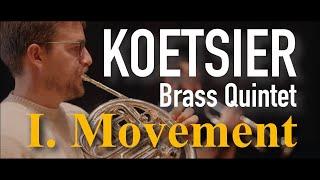 KOETSIER - Brass Quintet - Andante con moto - Primebrass [4K]
