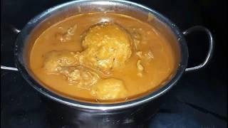 Thakkadi Recipe in English/ Rice Dumplings in Mutton Curry