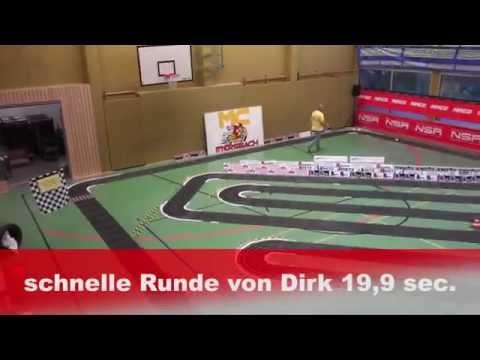 Größte NINCO Autorennbahn der Welt in der Wasenhalle in Ittersbach am 28.12.2014