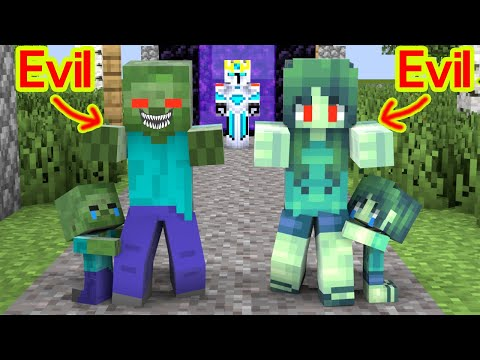 Monster School : Baby Zombie Saves His Parents ? - Sad Story - Minecraft Animation