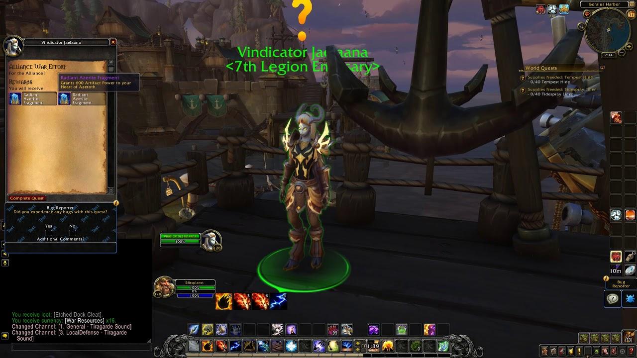Alliance War Effort (7th Legion Emissary World Quest Turn in)