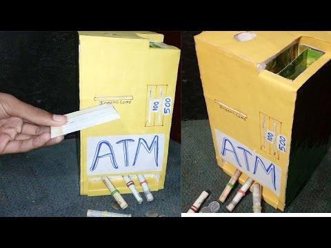 How To Make Piggy Bank ATM Machine At Home DIY Easy Way