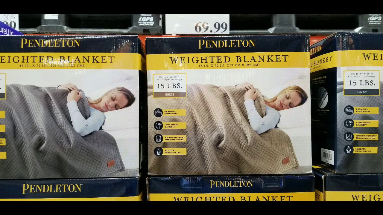 Costco Pendleton Weighted Blanket 15 Lbs 69 Youtube