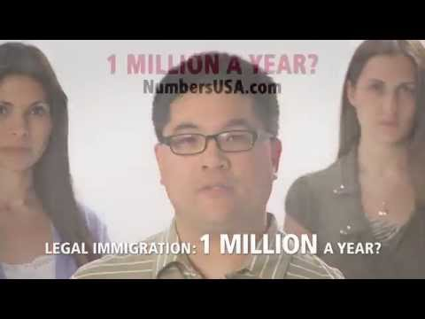 TV ad: Is one million the right number for annual immigration?