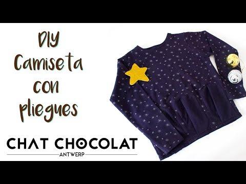DIY - Camiseta Con Pliegues Y Tela De Chat Chocolat | MANNEKEN