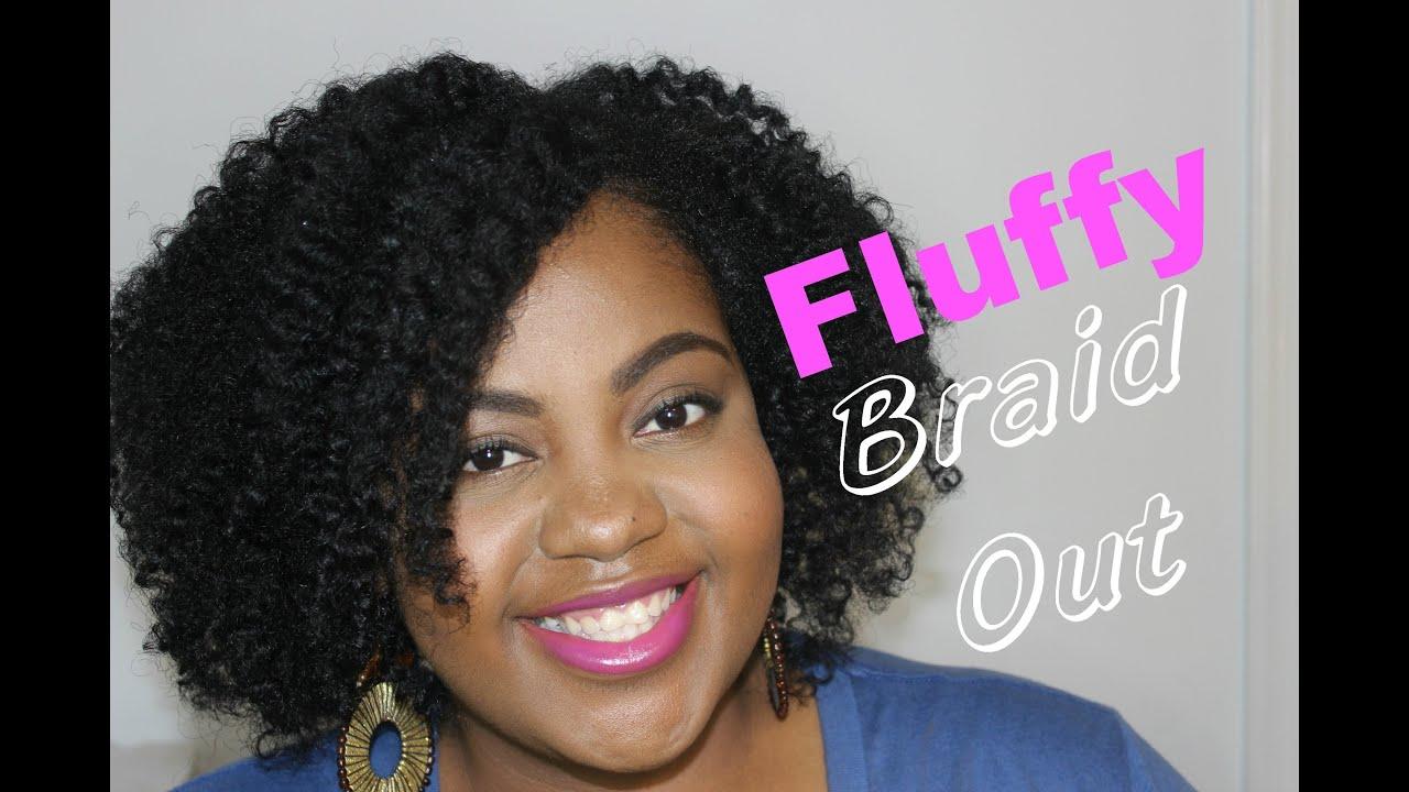 """fluffy braid thin fine """"natural"""