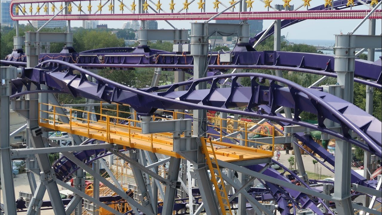 Download World's LARGEST Portable Inverted Roller Coaster?! | Meet Euro-Star!