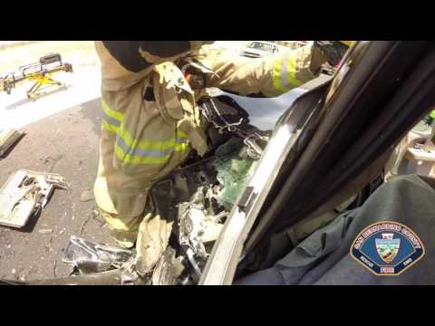 Driver Rescued from Vehicle Accident in Victorville
