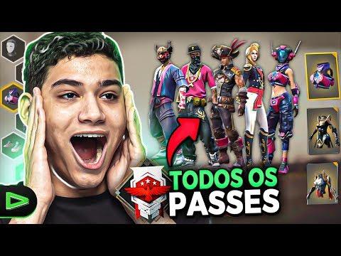 TODAS AS ROUPAS DOS PASSES DE ELITE DO FREE FIRE!!!