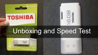 TOSHIBA USB Flash Drive: Unboxing & Speed Test