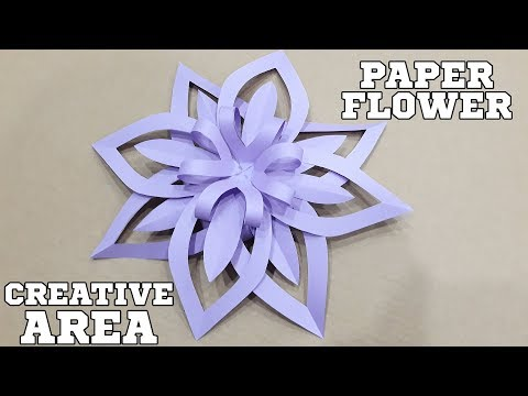 Paper flower - How to Make an easy  diy flower with paper -  Video tutorial.