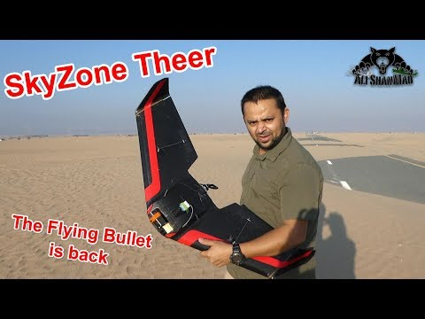 SkyZone Theer 110 MPH FPV Racing Wing The Flying Bullet is Back