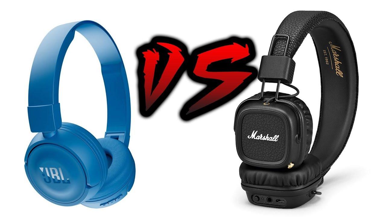 Jbl T450bt Vs Marshall Major Ii Bt Youtube Headphone White
