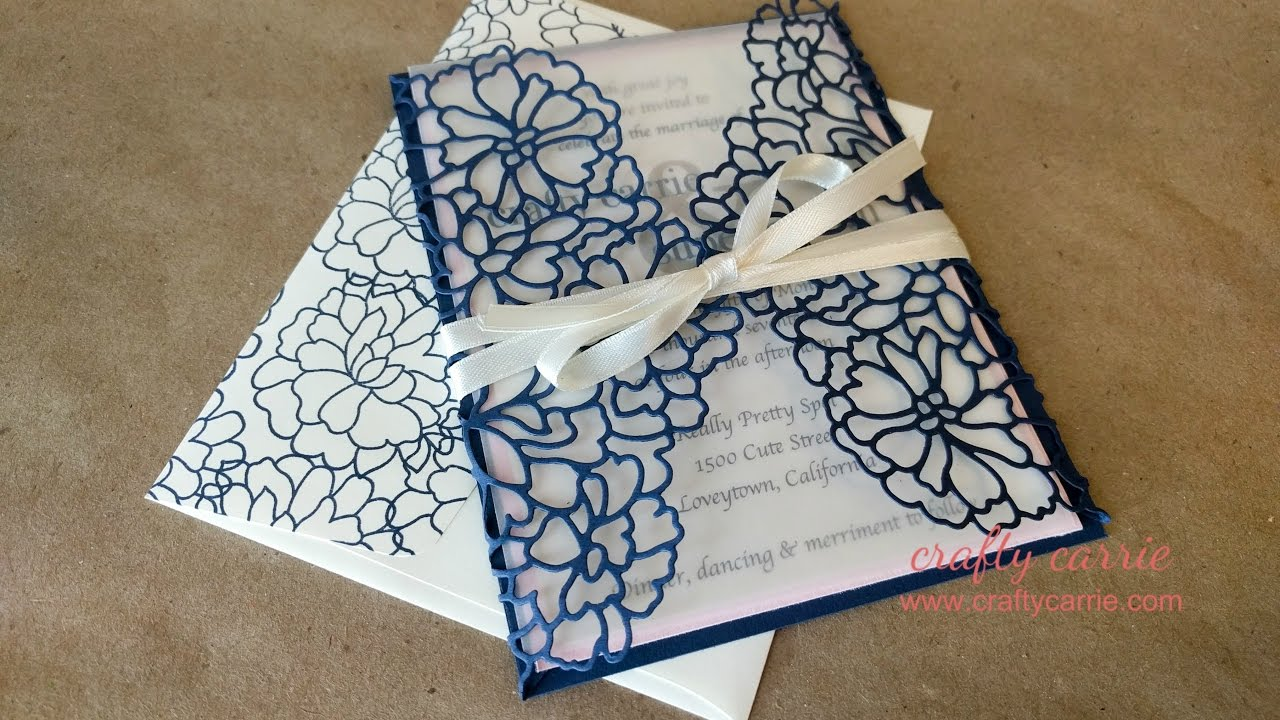 DIY Wedding Invitations - YouTube