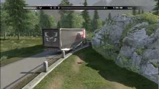 Scania truck driving simulator - Problém s GPS a Cesta smrti (1080p)