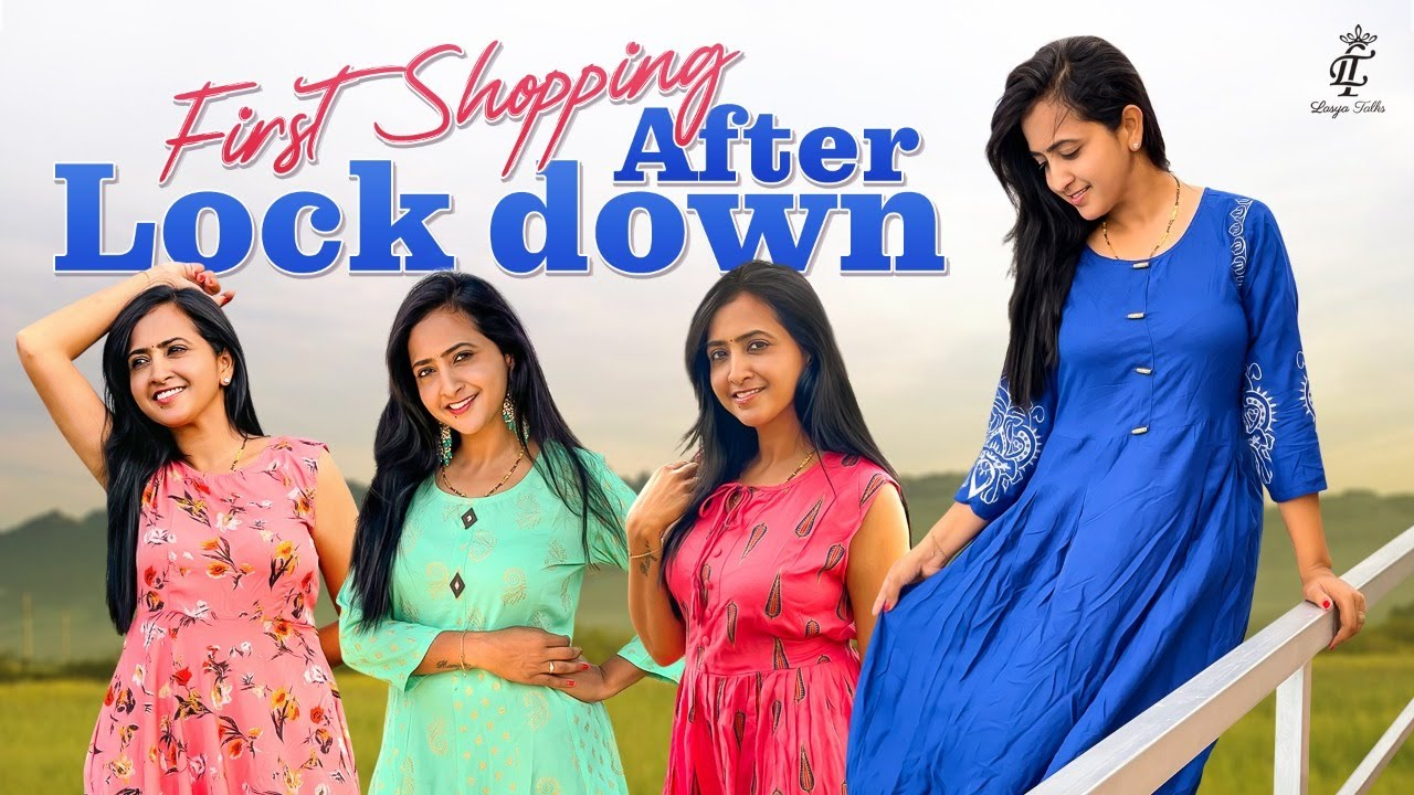 Lasya Talks || First Shopping After Lock Down || New Dresses Collection || Lasya's New Video
