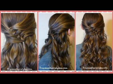 Diagonal Knots Hairstyle Tutorial, Princess Hairstyles