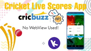 Full Guide - Cricket Live Scores App With CricBuzz Json API in Kodular - Live Without Using WebView screenshot 5