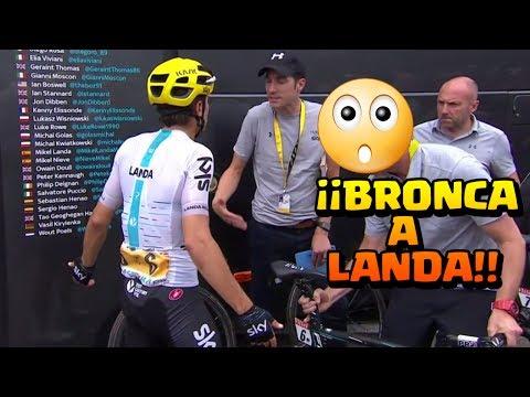 BRONCA a Mikel Landa por no esperar a Chris Froome | Etapa 12 | Tour de Francia 2017