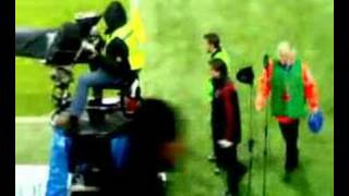 Del Piero in riscaldamento a san siro