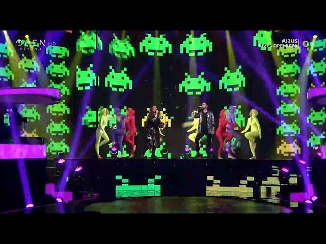 Κατερίνα Ζαρίφη και Αναστάσιος Ράμμος τραγουδούν Blinding lights | J2US | OPEN TV