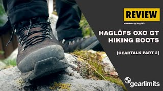 Haglofs Oxo Mens Brown Grey Waterproof Gore Tex walking Hiking Boots
