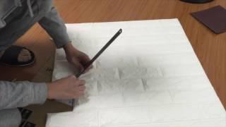 省錢DIY-3D立體磚紋牆壁貼