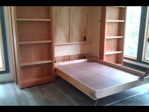 Hidden Murphy Bed Wall Unit Youtube