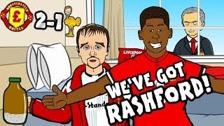 WE39VE GOT RASHFORD Man Utd vs Liverpool 2-1 THE SONG parody goals highlights