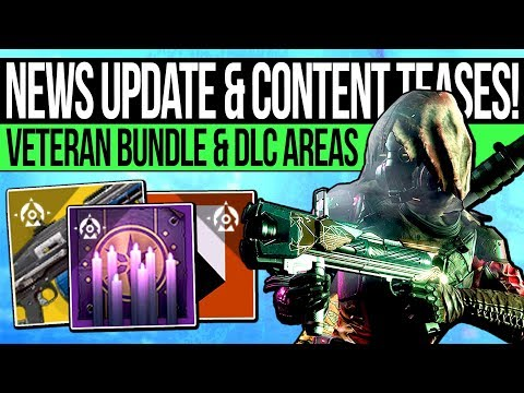 Destiny 2 | NEWS UPDATE & CONTENT TEASES! Exotic Fixes, DLC Locations, Veteran Bundle & Changes!