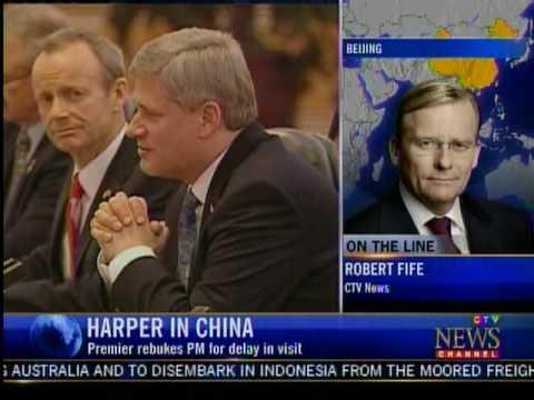 Chinese Premiere Dresses down Stephen Harper in Public