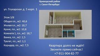 Купить 1 комнатную квартиру с балконом.  Санкт Петербург.  #Приморский район.
