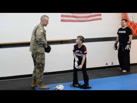 Sergeant Surprises Son In Taekwondo Lesson