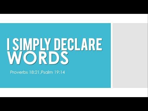 I SIMPLY DECLARE by Rev Brendo S Medina