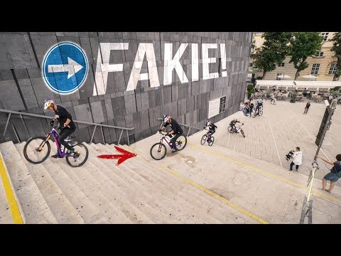 """Riding backwards down 2 stair sets: Behind the Scenes of """"Urban Freeride Lives in Vienna"""""""