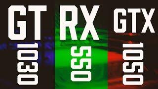 QUAL É A MELHOR? GT1030 - RX550 4GB - GTX1050